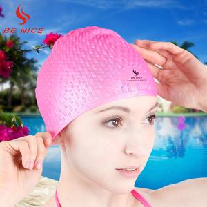 比耐思游泳帽时尚长发男女 硅胶防滑防水大号不勒头成人游泳帽