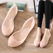赛卡茜新款果冻鞋女凉鞋女平底夏季鱼嘴鞋套脚雨鞋防水塑料沙滩鞋