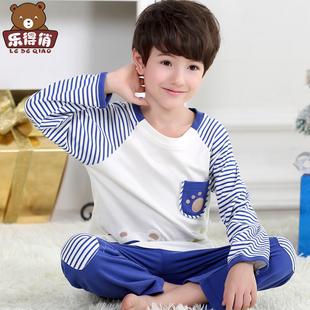 儿童睡衣春秋季纯棉长袖3-5男孩男童中大童7-9周岁宝宝家居服套装