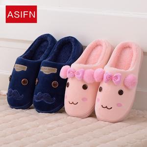 冬季棉拖鞋家居家室内卡通可爱情侣男女保暖毛托鞋加厚底拖鞋冬款棉拖鞋