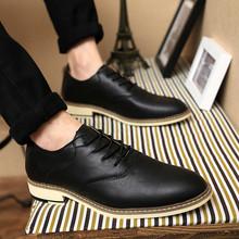 子商务尖头青年流行男士 增高百搭潮鞋 夏季英伦风休闲皮鞋 正装 男鞋