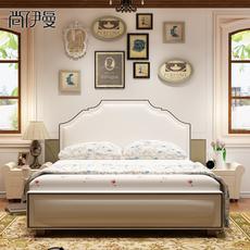 真皮床现代简约 美式皮床高箱储物床主卧床双人床1.8米软床软包床