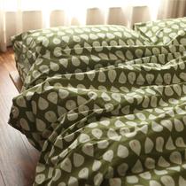 古堡花园纯棉竹节棉被套床单枕套多件套全棉四件套床品套件水芭蕉