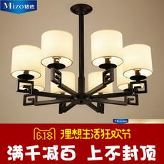 新中式吊灯现代简约铁艺客厅灯餐厅卧室酒店别墅复式楼中式大吊灯