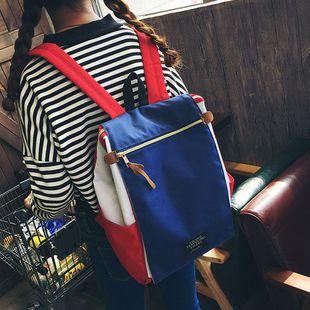 大容量帆布双肩包女日韩版学院风校园书包男学生背包电脑包15.6寸