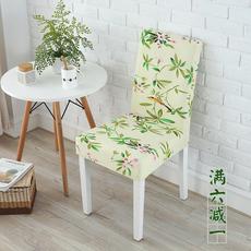椅子套弹力连体酒店饭店餐厅餐桌椅子套罩家用欧式椅套布艺凳子套