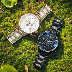 邦顿男士手表超薄镂空机械表全自动时尚防水精钢正品男表2018新款手表
