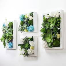 新芮创意墙面装饰背景墙壁挂件 田园墙上装饰品仿真植物墙饰壁饰