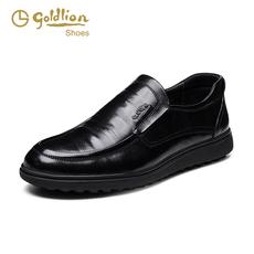Goldlion/金利来头层牛皮正装皮鞋男正品 2016年秋季耐磨真皮男鞋