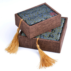 正品古典流苏提盖佛珠包装盒子实木吊坠把件珠宝手镯玉器首饰锦盒实木包装盒