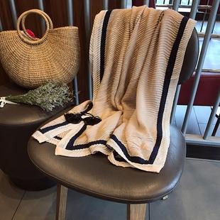 春夏围巾女新款韩范压褶弹力两用防晒棉麻披肩度假旅游沙滩巾纱巾