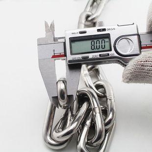 304不锈钢链条铁链条 宠物狗铁链子铁环链吊灯链晾衣绳8mm粗锁链