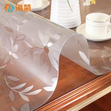 加厚软玻璃塑料台布防水防烫防油免洗桌布pvc透明磨砂餐桌茶几垫