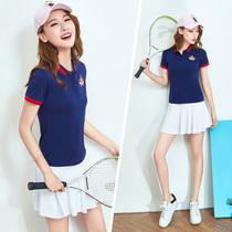 裙运动裙休闲套装 夏季羽毛球服女套装 网球服女短袖 网球裙球服女