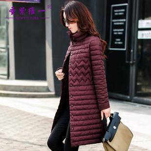 棉衣女中长款2016女装新款韩版修身立领羽绒棉服外套加厚女士棉袄
