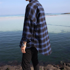 男士长袖衬衫春款秋季韩版宽松休闲时尚衬衣潮男青年潮流男装上衣