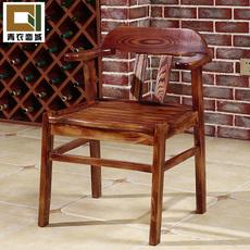 现代中式实木椅子饭店家用餐椅靠背时尚休闲办公椅会客洽谈桌组合