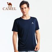 骆驼户外2018春夏速干T恤男女透气快干短袖运动健身吸湿情侣体恤