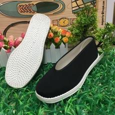 年中特价老北京纯布底圆口方口和尚练功手工布鞋
