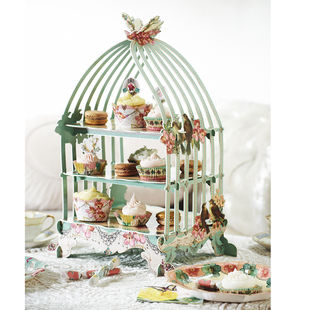 Tea Party Birdcage Cake Stand 欧式下午茶点心台蛋糕甜品架