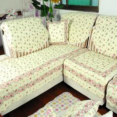 田园生活 全棉皮沙发垫布艺坐垫 厚沙发巾防滑沙发套罩定做欧式