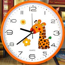 钟壁钟 儿童房圆形现代简约钟表客厅静音挂钟卡通钟可爱时尚