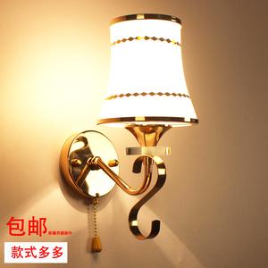 简约现代水晶壁灯 卧室温馨床头灯 客厅过道楼梯拉线开关灯饰灯具壁灯