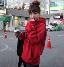 2016秋冬季新款韩国长袖宽松卫衣女薄款加绒大码学生套头连帽外套