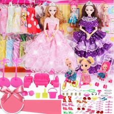 3D新娘换装芭比娃娃套装大礼盒儿童女孩过家家玩具洋娃娃婚纱公主