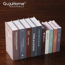 现代简约仿真书道具书北欧客厅书房架摆件摆设家居软装饰品假书