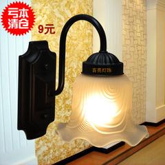 壁灯田园床头壁灯欧式过道灯卧室床头灯墙壁灯灯具