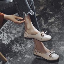 小红人低跟单鞋女2018新款春秋乐福鞋女一脚蹬英伦奶奶鞋女粗跟潮