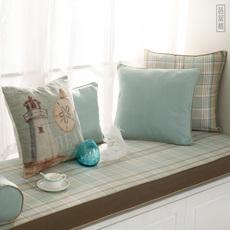 欧式飘窗垫窗台垫榻榻米垫高密度海绵阳台垫棉麻坐垫沙发垫子定做