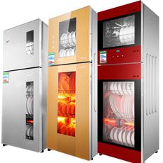 全国联保大容量高温消毒柜双门不锈钢家用商用触摸立式消毒碗柜