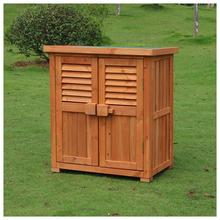 阳台美式储物箱收纳柜防晒防雨户外木质储物柜守鞠湓游锕駒s 包邮