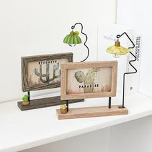 饰摆件 创意北欧相框6寸 ins双面铁艺家居装 立体艺术照片摆台相架