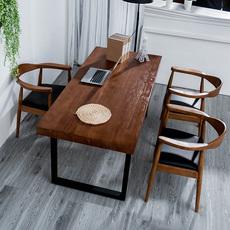 简约实木电脑桌台式家用做桌子简易双人办公桌写字台书桌书法桌