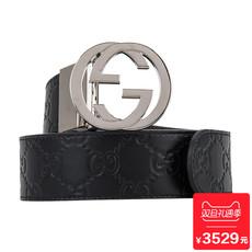 Gucci/古奇GU473030CWCWN奢品男士时尚两面用皮带腰带新款