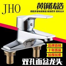 全铜洗脸盆台盆洗面盆洗手盆三孔双孔两联龙头卫生间冷热水龙头