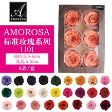 日本进口永生花amorosa1101玫瑰花保鲜花干花八音盒花盒diy材料包