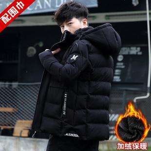 棉衣服男士外套冬季2019新款加绒加厚韩版工装短款棉袄羽绒棉服潮