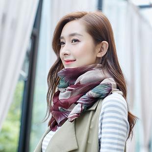 年轻人冬季围巾女韩版潮百搭时尚女土韩国潮流棉麻透气长款薄款