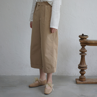Cropped low-waist pants SOMEPIECE 重工極簡mhl直筒七分褲 小眾