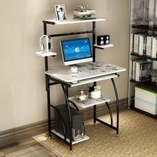 小型电脑桌游戏专用带打印机架子台式家用单人迷你简易抽屉卧
