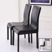 特价 时尚 简约现代皮餐椅酒店餐厅餐桌椅办公家用黑白色凳靠背椅子
