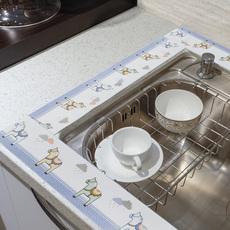 厨房贴吸水帖 卫生间浴室厨卫洗漱台防水吸水装饰贴玻璃贴纸水槽