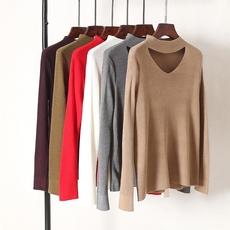 双领设计更有腔调!天丝羊毛柔软不扎针织打底衫2017秋季女装新款