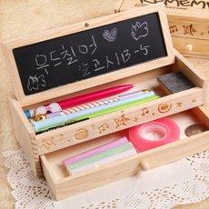 创意小学生儿童男女孩木制铅笔盒 韩国多功能文具盒笔袋学习用品