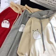 可爱卡通韩版女连帽宽松2018卫衣秋装套头新款学生带帽衫薄款外套