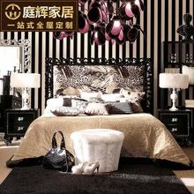 软包布艺床1.8米创意设计师住宅家具后现代风格 公主床婚床定制